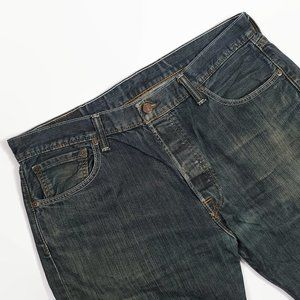 Levi's 501Button Fly Straight Leg Jeans